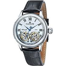 Thomas Earnshaw ES-8030-01 - Reloj para hombre con esfera analógica de color blanco y correa de cuero negra