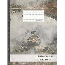 """Checklisten-Buch: DIN A4 • 70+ Seiten, Softcover, Register, """"Vintage Rocks"""" • #GoodMemos • 18 Checkboxen + Platz für Notizen/Seite (inkl. Register mit Datum uvm.)"""