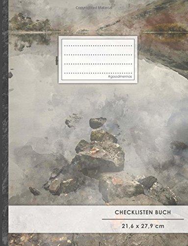 """Checklisten-Buch: DIN A4 • 70+ Seiten, Softcover, Register, \""""Vintage Rocks\"""" • #GoodMemos • 18 Checkboxen + Platz für Notizen/Seite (inkl. Register mit Datum uvm.)"""
