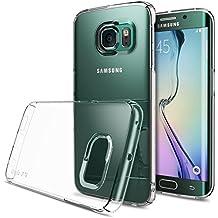 Galaxy S6 Edge Funda - Ringke SLIM ***Cobertura Completa Top y Bottom*** [CRYSTAL] Diseño del borde curvado fluido Todo Al Rededor La Protección Del Claro Funda Duro para Samsung Galaxy S6 Edge - Eco Paquete