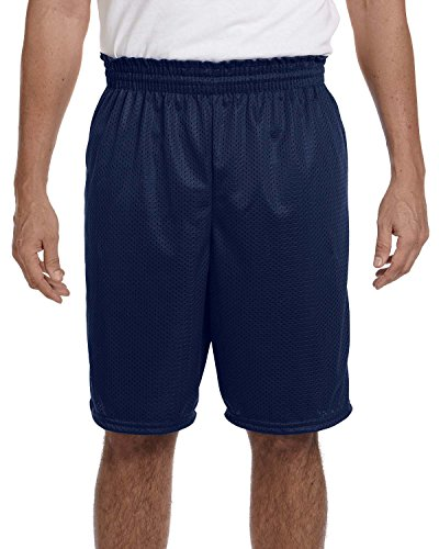 Adult Tricot Mesh/Tricot Lined Short NAVY 2XL Poly Tricot Mesh
