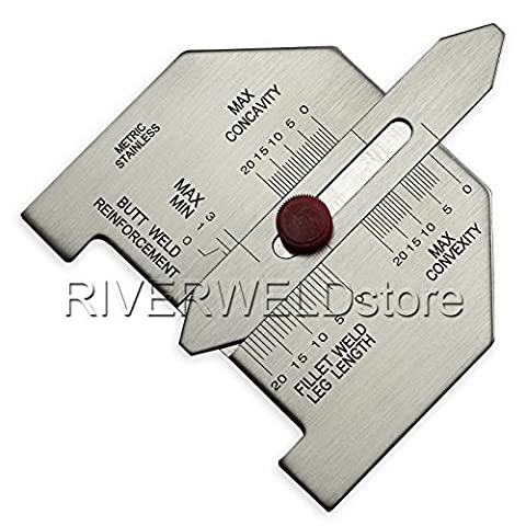 Fillet Weld Butt Weld Automatic Weld Size Welding Gauge Metric Stainless Steel Inspection Gauge