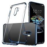 Haobuy Xiaomi Pocophone F1 Hülle,[Silikon Poco F1 Hülle ][Electroplated Bumper] Cystal Clear Slim Ultra Dünn TPU Handyhülle für Xiaomi Pocophone F1[Blau]