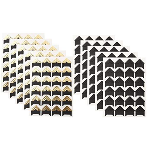 Wowot 10 Blätter selbstklebende Ecken für Fotoalben und Scrapbooks -