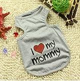 """Namsan Puppy Sommer-T-Shirt """"Ich liebe meine Mama"""" Hund Katze nette Kleidung Gross"""