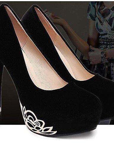 WSS 2016 Chaussures Femme-Mariage / Bureau & Travail / Habillé / Décontracté / Soirée & Evénement-Noir-Talon Aiguille-Talons-Talons-Synthétique black-us6 / eu36 / uk4 / cn36