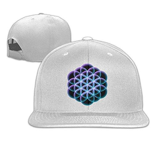 Xukmefat Flower of Life Mandala Fitted falt Hat Adjustable Baseball Cap 0828
