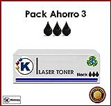 k-707sostituisce Canon 707, CRG707–3x Cartuccia di Toner Laser per Canon I-Sensys LBP-5000/LBP-5100, 2500pagine, compatibile con Lbp2410, Nero