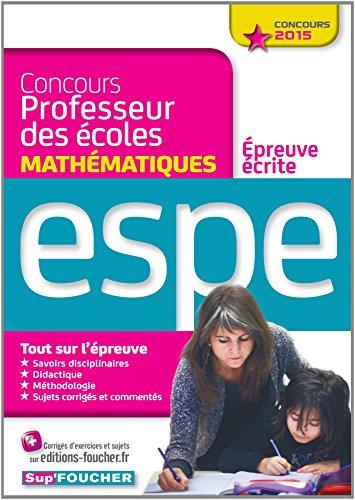 Concours Professeur des écoles - Epreuve écrite de Mathématiques - Concours 2015 - Nº01