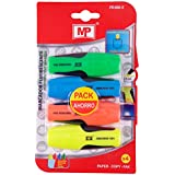 Mp PE490-5 - Set de 4 marcadores, color fluorescente