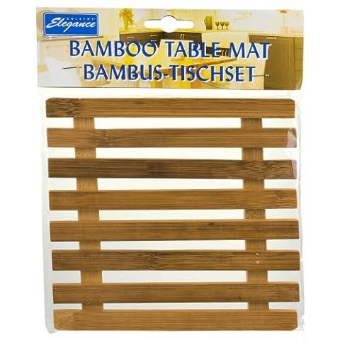 Bamboo Square Heat Resistant Trivet Pot Mat Coaster Holder Placemat