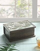 Store Indya, Boîte de Boîte à thé 6 compartiments Accessoires pour souvenirs Fournitures pour artisanat Outils Cuisine à la maison Collecte décorative (Marron4)