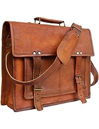 Znt Bags , 15 Inch Genuine Leather Laptop Office Messenger Bag For Men & Women NO - 1125