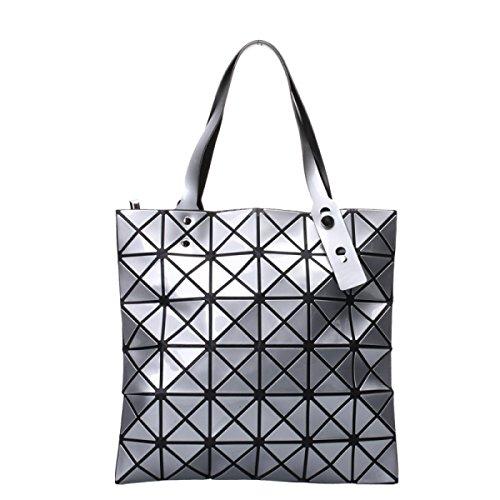 Frauen Paket Geometrische Umhängetasche Handtasche Silver