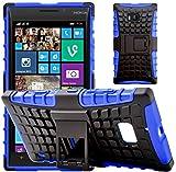 G-Shield Nokia Lumia 930 Hülle Silikon mit Ständer Stoßfest Schutzhülle Dünn Tasche Hybrid Armor Cover Case Etui Handyhülle mit Displayschutzfolie und Stylus - Blau