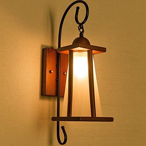 DSC Mur Lampe Chambre Salon Bois Tête + Verre Tête Bois Unique Personnalité Créative Miroir Projecteurs 8f3c5d