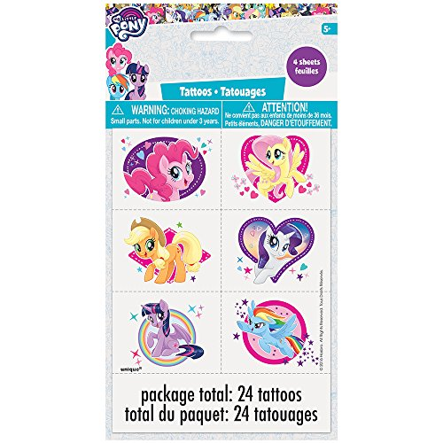 Unique Industries My Little Pony Tattoos Temporary (24 Piece)
