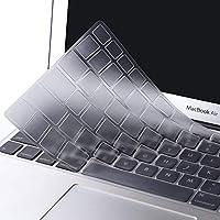 MOSISO Cubierta del Teclado Compatible 2018 MacBook Air 13 Pulgadas A1932 con Pantalla Retina&Touch ID, Ultra Uelgado TPU Transparente Protectora Piel (EU Layout con Alfabeto Inglés), Claro