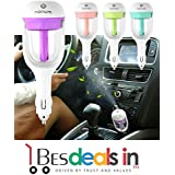 Best Deals - Mini Travel Portable Cool Mist Ultrasonic Air Humidifier Car Plug Humidifier Air Purifier Freshener Aromatherapy For Car Fragrance And Aroma Essential Oil (Assorted Color)