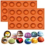Lot de 2moules Musykrafties - En silicone - Formes de demi-sphères - Pour petits gâteaux, Silicone, aléatoire, Small