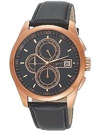 Esprit Herren-Armbanduhr XL Circolo Chrono Rose Gold Chronograph Quarz Leder