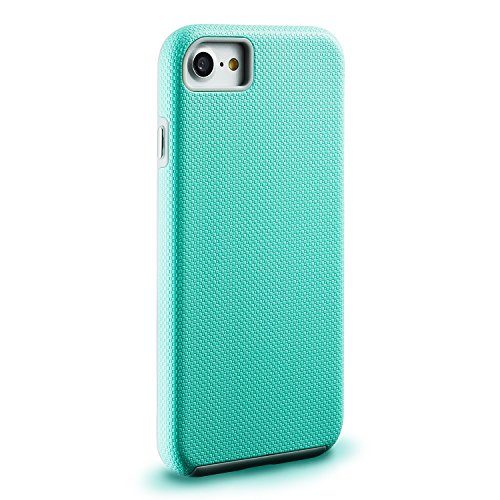 Coque iphone 8 & iPhone 7,2en1 [Rugged Armor] Hybrid TPU +PC Étui Rigide protectrice Métallique Boutons Case Cover pour Apple iphone 8 & iPhone 7 Viola verde menta