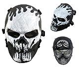 Airsoft Masque de protection militaire protection Paintball Halloween Htuk Tête de mort, noir/blanc
