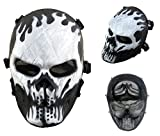 Airsoft calavera cara llena máscara de protección Militar protección Paintball...