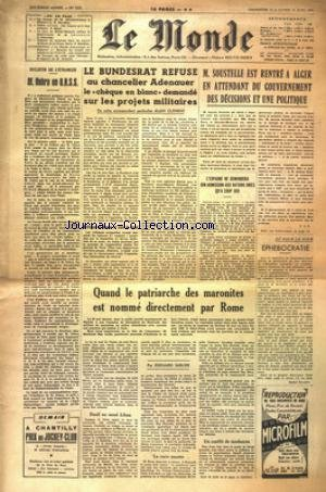 MONDE (LE) [No 3229] du 12/06/1955