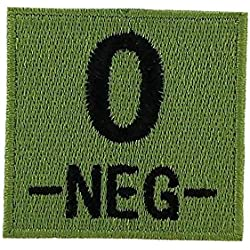 Akachafactory Patch ecusson Brod Airsoft Tactical Militaire Groupe sanguin thermocollant Camo - O-