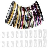 Naler 36 Zierstreifen Striping Tape Verzierung Streifen Nageldesign mit Nägel Tips