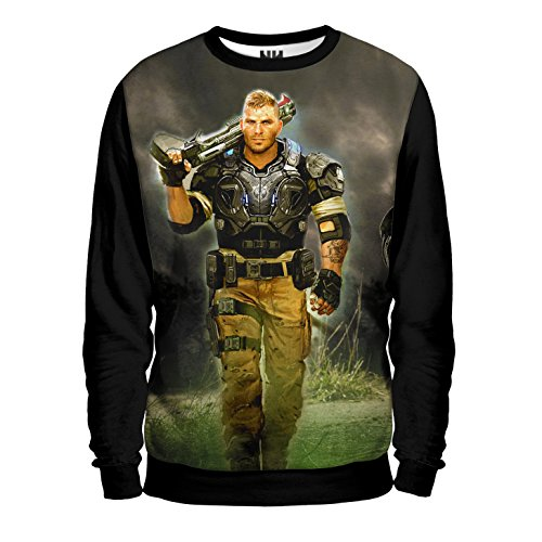 GEARS OF WAR Felpa Uomo - JD Fenix Sweatshirt Man - Gears of War 4 Videogioco Microsoft Xbox One PC Windows Game T-Shirt