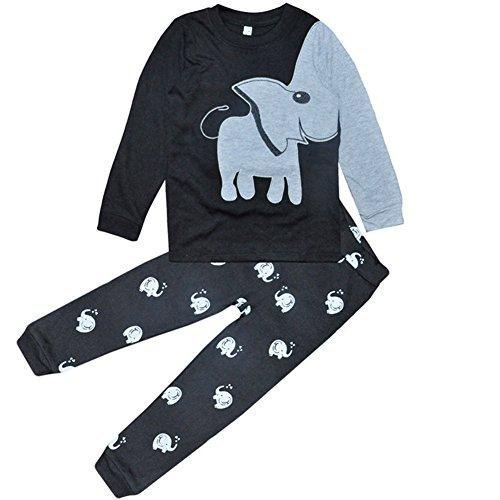 valen tree - Pijama dos piezas - para niño Gris elefante 1-2 Años