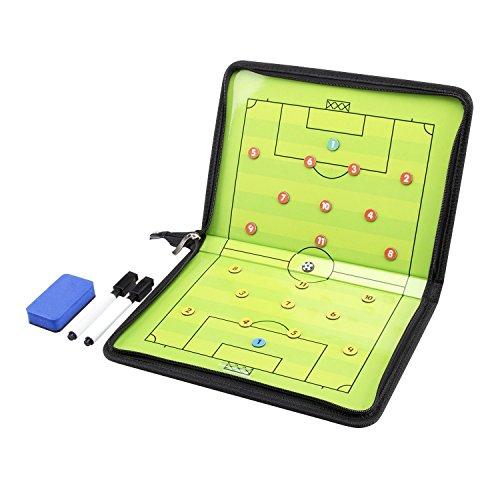 AGPTek® Coach-Board Coach-Mappe für Fußball Professional Fußball Taktikmappe, mit Magnete, Stifte, Radiergummi