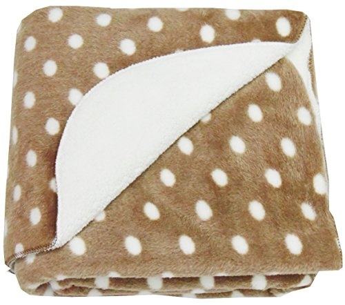 Love Bird Fur Baby Blanket/Quilt Double Ply [Brown][Cotton Socks Worth Rs.60 Free]