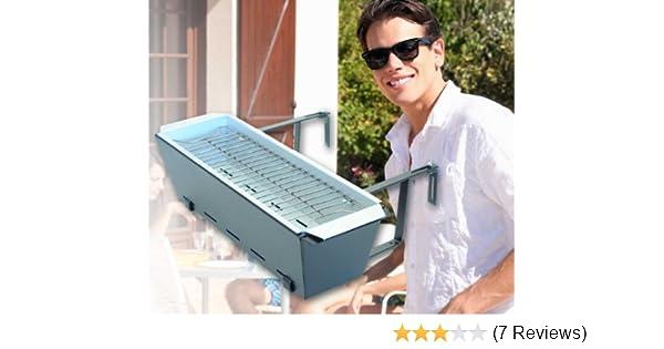 Landmann 11900 Holzkohlegrill Balkon Grill : Pfiffig wohnen balkongrill geländergrill bruce amazon küche