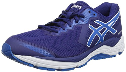 ASICS Herren Gel-Foundation 13 (2E) Laufschuhe, Blau Print/Race Blue 400, 45 EU - Asics Winter Running Shoes