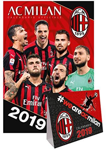calendario da muro + scrivania MILAN 2019 UFFICIALE - (29x42)