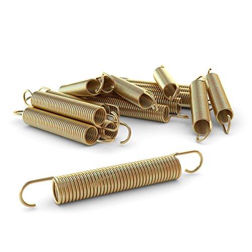 Ampel 24 Trampolin Feder-Set | 12 Spiralfedern | Länge Zugfeder ca. 140 mm | Sprungfeder extra verstärkt & lange haltbar