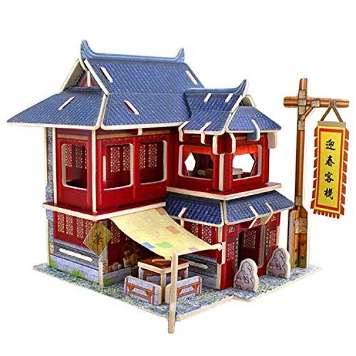 RecontraMago Puzzle 3D - Hotel Chino - Colección Casas Edificios del Mundo - Rompecabezas - Juguetes para niños y Adultos
