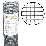 Volierendraht 1m x 25m / Maschung: 12x12 mm, Drahtgitter 4-Eck Maschendraht Schweißgitter Zaun