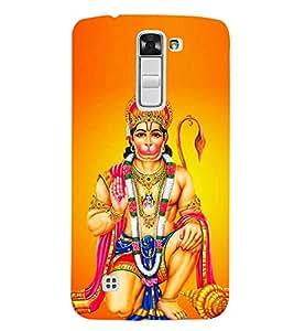 Bajrang Bali 3D Hard Polycarbonate Designer Back Case Cover for LG K7 :: LG K7 Dual SIM :: LG K7 X210 X210DS MS330 :: LG Tribute 5 LS675