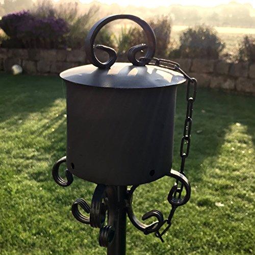 Gartenfackel Partyfackel Eventfackel Gartenfeuer Feuerfackel Toilettenpapier Fackel für draußen aus Stahl inkl. Deckel