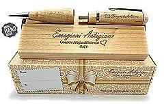 Idea Regalo - Penna Regalo Originale in Legno Multifunzione USB 32Gb, Regalo per: Laurea, Compleanno, Anniversario. Incisione a Mano