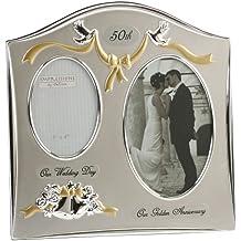 Juliana - Marco de fotos para de bodas de oro (50 aniversario), color plateado