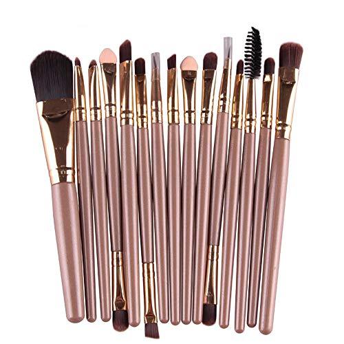 SMILEQ 15 Teile/sätze Lidschatten Foundation Augenbraue Lippenpinsel Make-Up Pinsel Werkzeug (15...