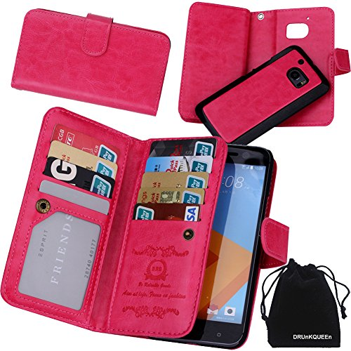 htc-10-case-drunkqueen-premium-leather-credit-card-holder-feature-wallet-type-flip-folio-case-detach