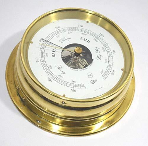 Barigo Marine Barómetro náutico de latón aneroide