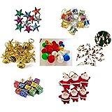 FizzyTech 70 Pcs Christmas Tree Decorations Set (Balls, Bells, Gifts, Drums, Stars, Candy Sticks & Santa Claus)