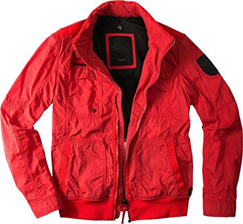 Strellson Sportswear Herren Jacke Swiss Cr modisches Langarmoberteil Uni & Uninah, Größe: 48, Farbe: Rot
